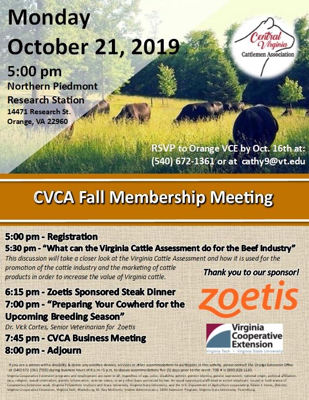 2019 pic of fall cvca meeting flyer